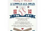 Baseball Bridal Shower Invitations Couples All Star Baseball Baby Shower Invitation