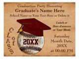 Baseball Graduation Invitations Custom Vintage Baseball Graduation Invitations Postcard