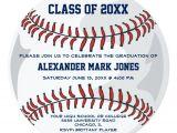 Baseball Graduation Invitations Personalized Sports Graduation Invitations