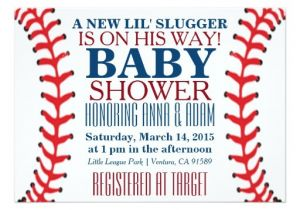 Baseball Invitations for Baby Shower All Star Baseball Baby Shower Invitations