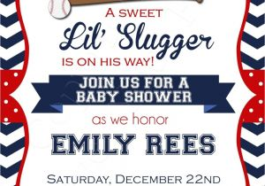 Baseball Invitations for Baby Shower Baseball Baby Shower Invitations Printable