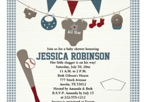 Baseball Invitations for Baby Shower Baseball themed Baby Shower Invitations