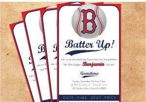 Baseball Invitations for Baby Shower Baseball themed Shower Invite Baby Shower