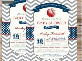 Baseball Invitations for Baby Shower Boys Baby Shower Invitation Vintage Baseball Red & Navy