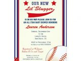 Baseball Invitations for Baby Shower Vintage Baseball Baby Shower Invitation