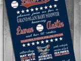 Baseball themed Baby Shower Invites Baseball theme Baby Shower Invitation Couples Baby Shower