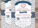 Baseball themed Baby Shower Invites Baseball themed Baby Shower Image
