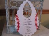Baseball themed Baby Shower Invites Baseball themed Baby Shower Invitation Custom Bib Die Cut