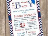 Baseball themed Baby Shower Invites Chevron It S A Boy Baseball Baby Shower Invitation Red