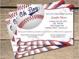 Baseball themed Baby Shower Invites Oh Boy Baseball themed Baby Shower Invitation 5×7