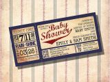 Baseball themed Baby Shower Invites Vintage Baseball theme Baby Shower Invitations Custom