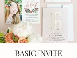 Basic Birthday Invitations Basic Invite Review Customize Your Party Invitations