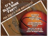 Basketball Birthday Party Invitation Wording Basketball Birthday Party Invitations