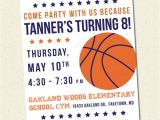 Basketball Birthday Party Invitation Wording Basketball Birthday Party Printable Invitation by