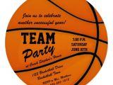 Basketball Birthday Party Invitation Wording Custom Basketball Team Party Invitation Zazzle