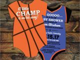 Basketball themed Baby Shower Invitations 10 Basketball Baby Shower Invitations All Star Invitation