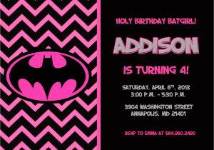 Batgirl Birthday Party Invitations Batman Batgirl Birthday Party Invitation Printable or