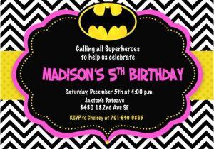Batgirl Birthday Party Invitations Batman Batgirl Pink Bat Man Bat Girl Birthday Party Invitation