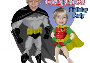 Batman and Robin Birthday Invitations Batman Personalized Birthday Invitations Party