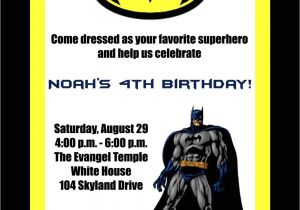Batman and Robin Birthday Invitations Birthday Invitations Batman Birthday Invitations