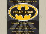 Batman Baby Shower Invitation Templates Batman Baby Shower Invitation Personalized Printable