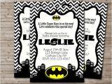 Batman Baby Shower Invitation Templates Batman Baby Shower Invitations