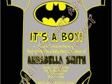 Batman Baby Shower Invitation Templates Superhero Batman Baby Shower It S A Boy Party by Craftyhooves