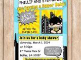 Batman Baby Shower Invites Superhero Baby Shower Invitation Batman by