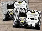 Batman Baby Shower Invites Superhero Baby Shower Invitations