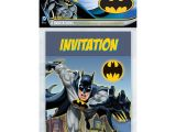 Batman Birthday Invitations Walmart Batman Invitations 8 Count Hollar so Much Good Stuff