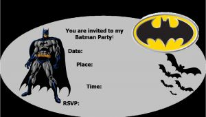 Batman Birthday Invites Free Printables Batman Party Invitations Template