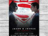 Batman Vs Superman Birthday Party Invitations Items Similar to Batman V Superman Invitation Batman Vs