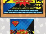 Batman Vs Superman Party Invitations Batman Superman Invitation Batman Superman Birthday