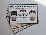 Batman Vs Superman Party Invitations Batman Vs Superman Birthday Party by 1stimpressioninvites