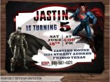 Batman Vs Superman Party Invitations Batman Vs Superman Invitation Batman Vs by Holidayprintdesign