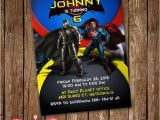 Batman Vs Superman Party Invitations Batman Vs Superman Invitation Card Party Invite by Lunalumuc