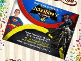 Batman Vs Superman Party Invitations Batman Vs Superman Invitations Batman Vs Superman Birthday