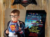 Batman Vs Superman Party Invitations Batman Vs Superman Superhero by Myprintableparty On Etsy