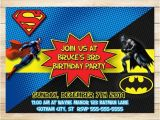 Batman Vs Superman Party Invitations On Sale Batman Superman Invitation Batman Superman Birthday