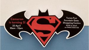 Batman Vs Superman Party Invitations Personalised Batman Vs Superman Birthday Party Invitation