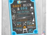 Bbq Baby Shower Invites Baby Beer & Bbq Baby Shower Invitation Printable Chalkboard