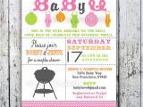 Bbq Baby Shower Invites Baby Shower Invitation Baby Q Baby Bbq Digital Printable