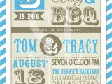 Bbq Baby Shower Invites Couples Bbq Baby Shower Invitation Blue Backyard Bbq