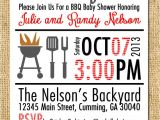 Bbq Baby Shower Invites Printable Bbq Invitation Any Color Bination Backyard Bbq