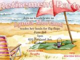 Beach themed Retirement Party Invitations Beach themed Retirement Party Invitations Home Party Ideas