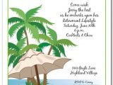 Beach themed Retirement Party Invitations Kick Back Beach Invitation Tropical Party Invitations