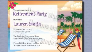 Beach themed Retirement Party Invitations Retirement Party Invitation Beach themed Custom Printable
