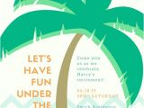 Beach themed Retirement Party Invitations Retirement Party Invitation Templates Canva