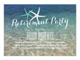 Beach themed Retirement Party Invitations Retirement Party Tropical Summer Beach Starfish Card