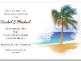 Beach themed Retirement Party Invitations Swaying Palm On the Beach Invitation